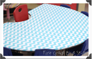 Monday Made It! Chevron Covered Table!