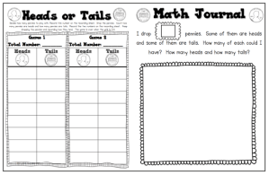 Heads or Tails Math Game Freebie