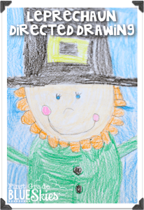 Leprechaun Directed Drawing FREEBIE
