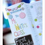 Custom Classroom Brochure for Open House {Giveaway}