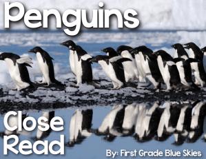 Penguin Close Read, Freebies, & More