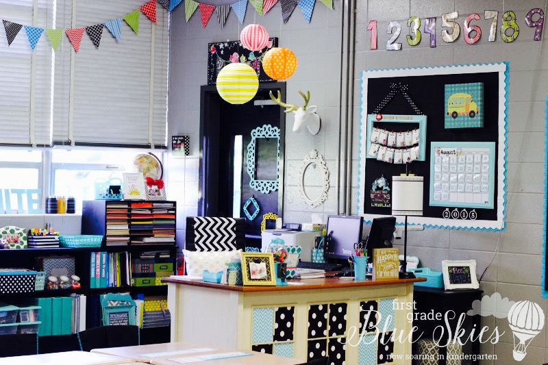 Classroom Reveal 2015 First Grade Blue Skies