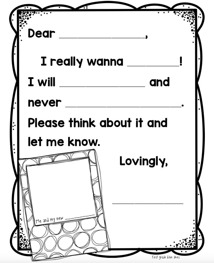 I wanna Iguana Persuasive Letter Activity
