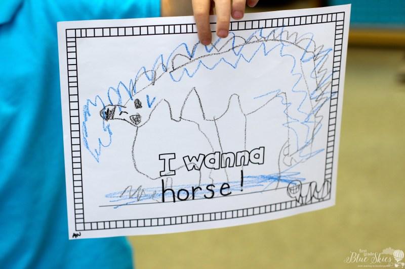 I wanna iguana activity for kindergarten