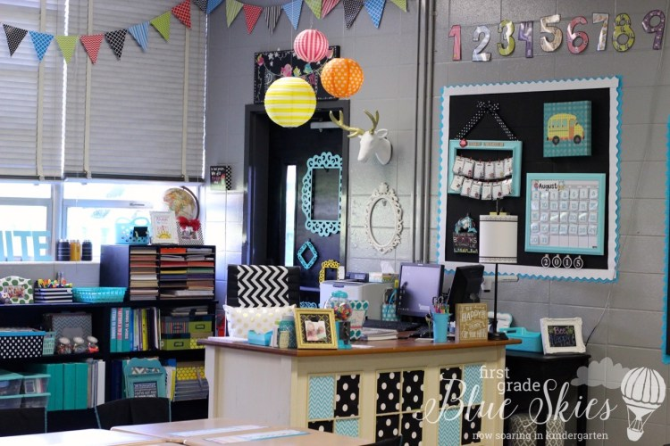 Classroom Reveal 2015 First Grade Blue Skies