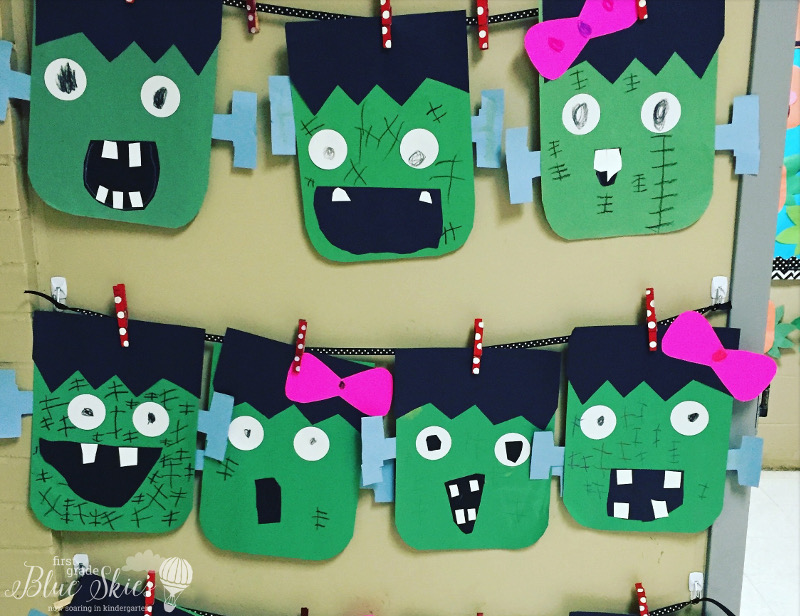 halloween craft ideas for preschool frankenstein craft freebie grade blue skies 6666