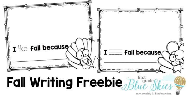 Fall writing freebie kindergarten