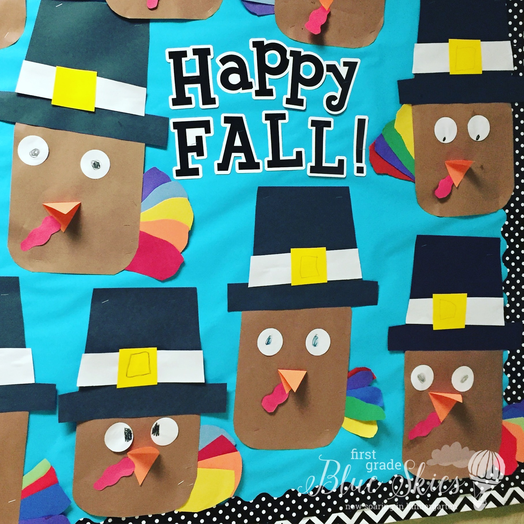 thanksgiving pilgrim and turkey crafts first grade blue skies