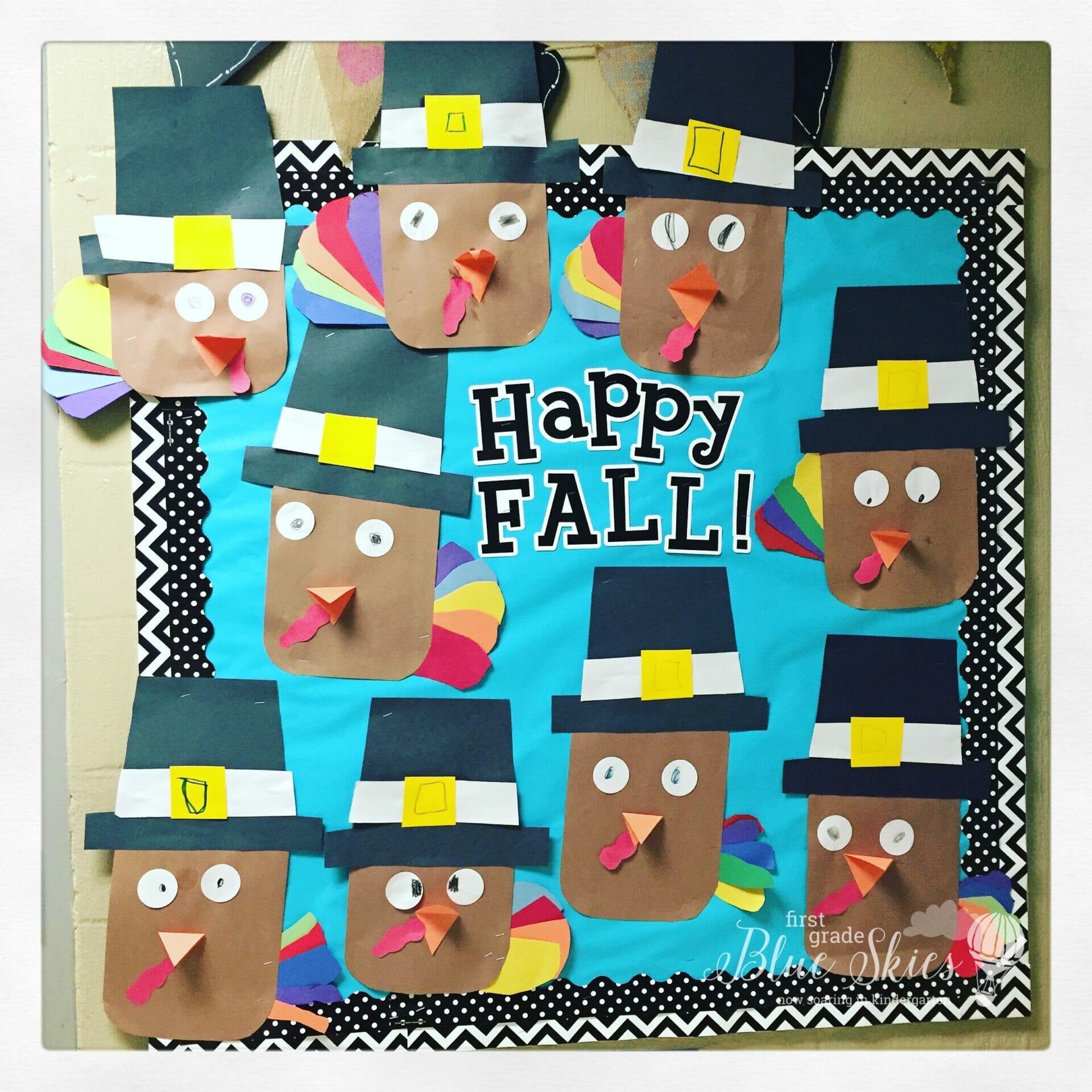 Thanksgiving Pilgrim and Turkey Crafts - First Grade Blue Skies