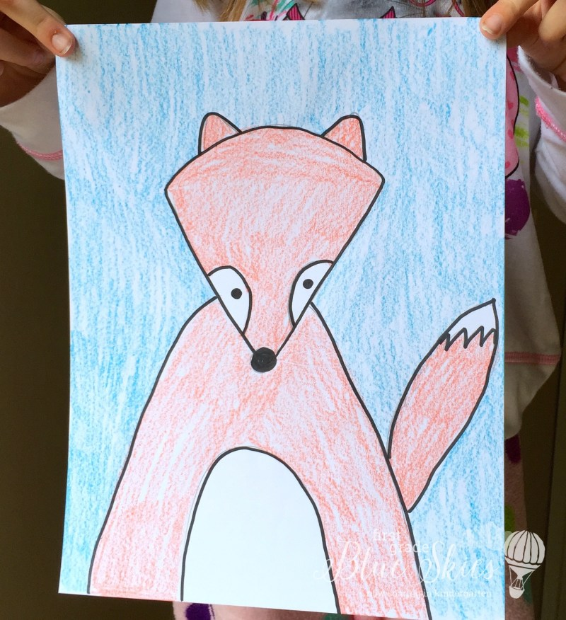 Fox Directed Drawing