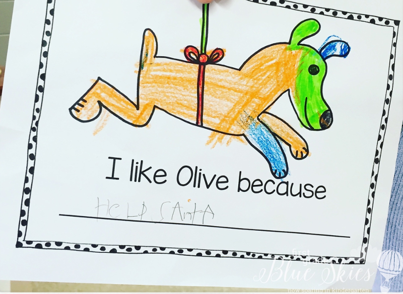 Olive Reindeer Writing FI