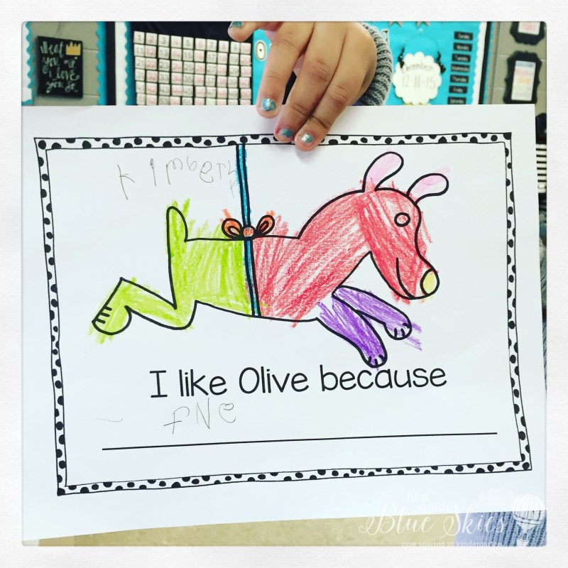 Olive the Other Reindeer Writing