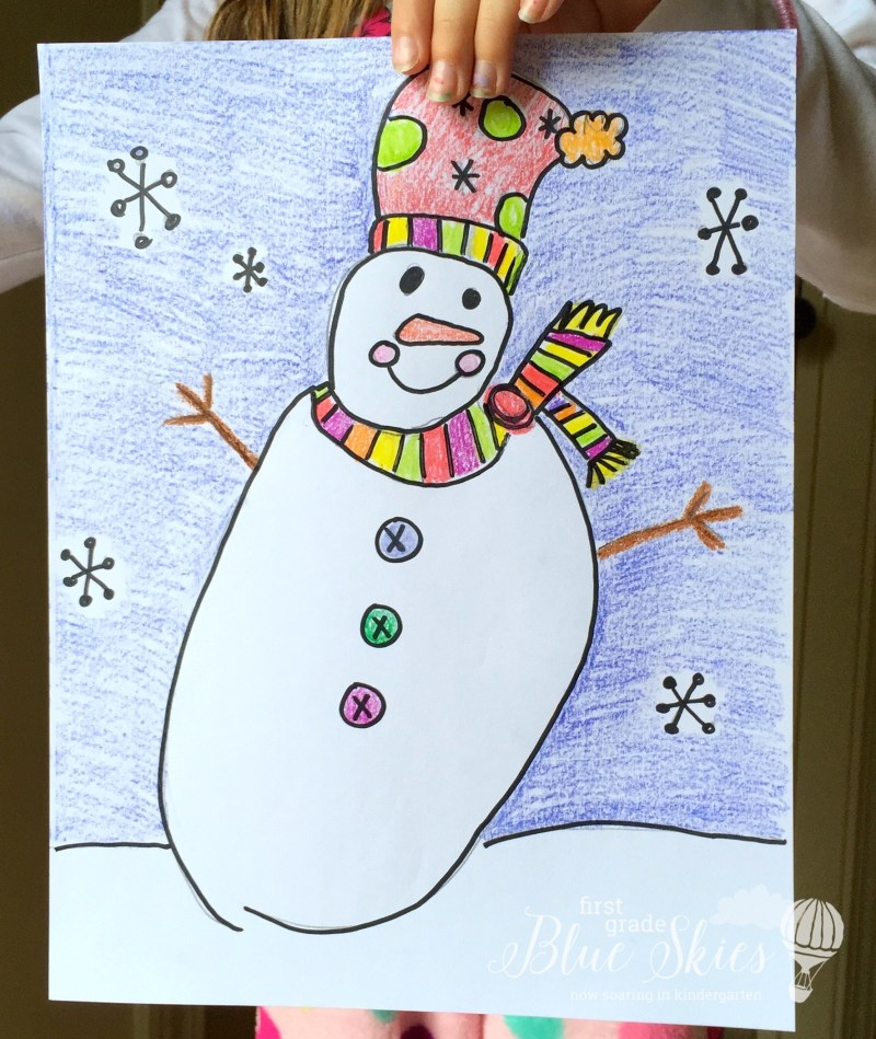 Snowman Directed Drawing