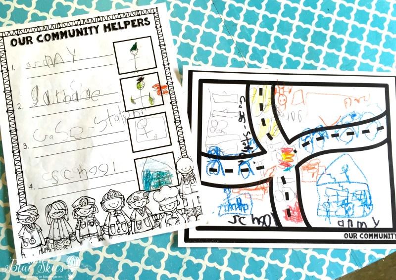 Community Helpers activity kindergarten