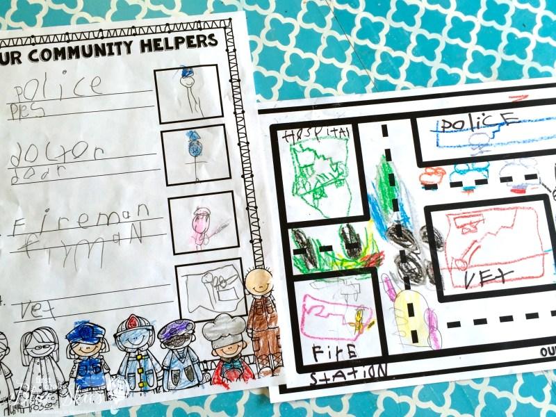 communiy helper page