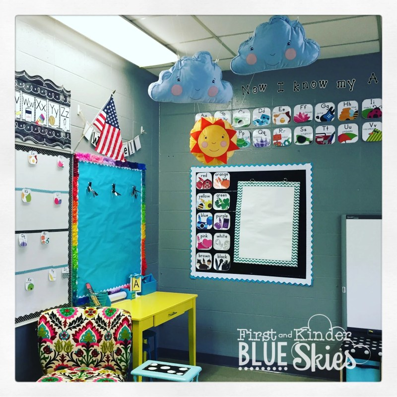 classroom writing station