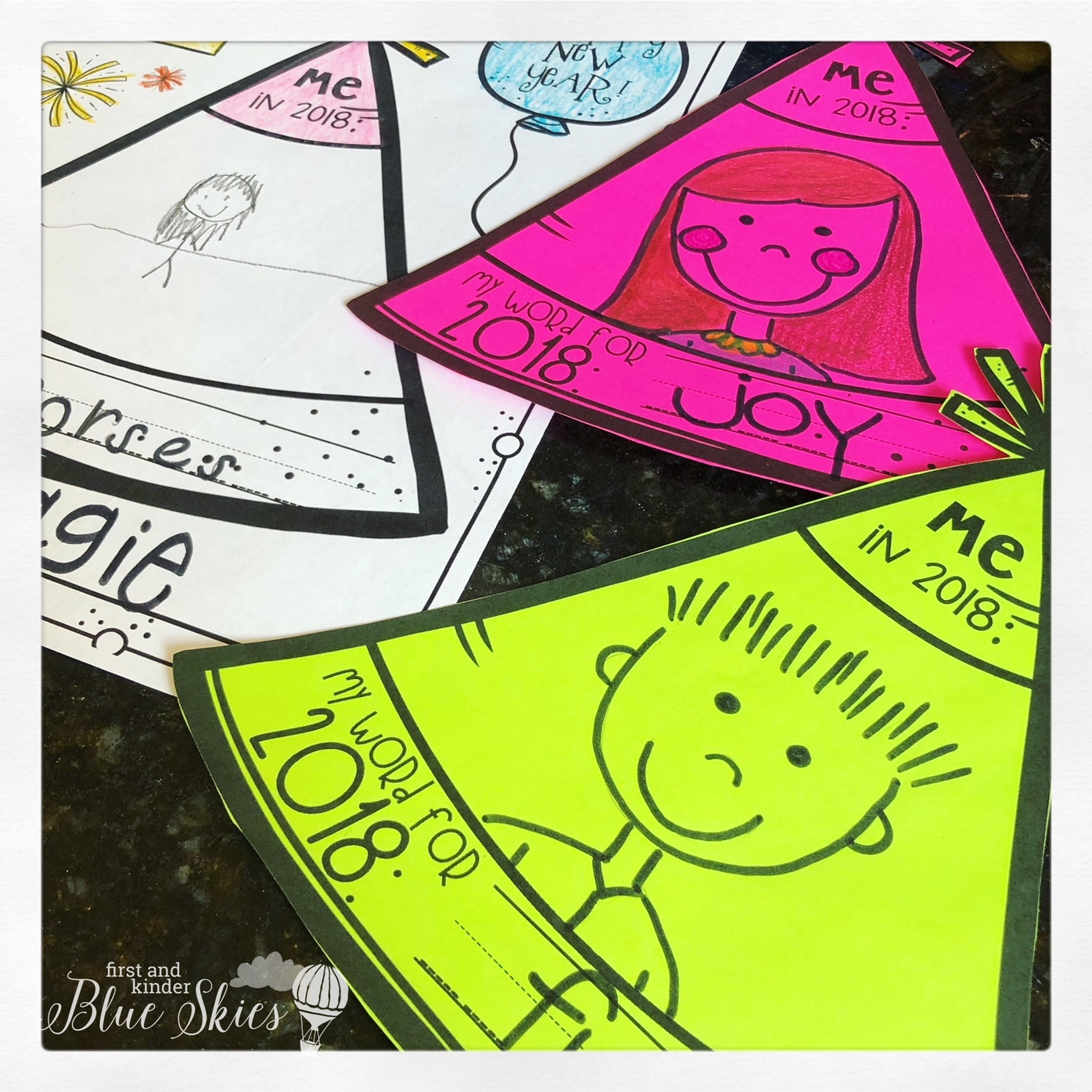 Happy New Year Writing Activities FREEBIE - First Grade Blue Skies