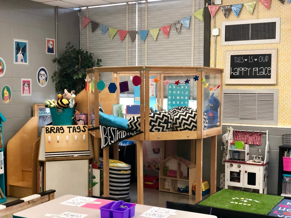 First and kinder blue skies classroom reveal