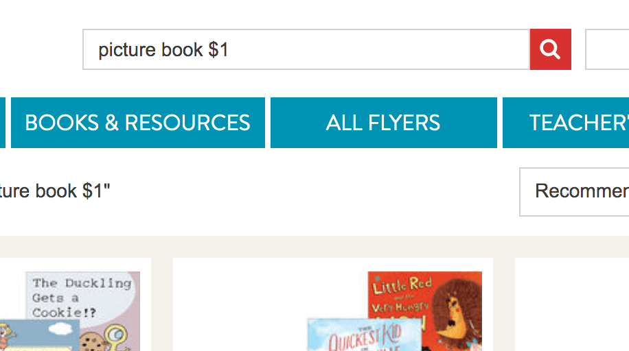 How to find $1 books on Scholastic Book Club