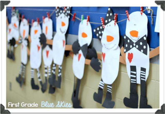 Snowman Glyph Winter Craft