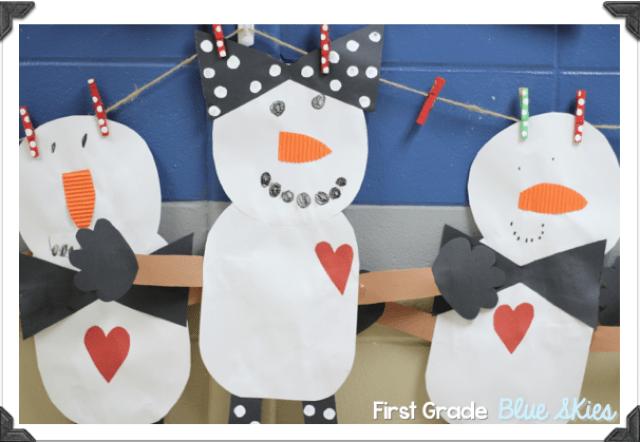 Snowman Glyph Penguin Freebies