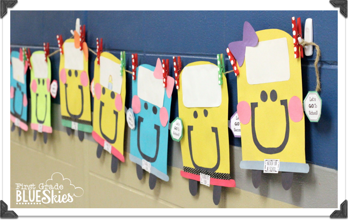 BUStin' into School! Back to School Craft and Bulletin Board