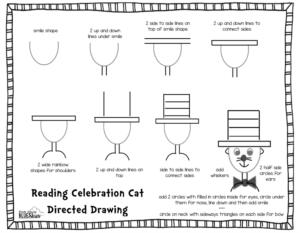 Directed Drawing Tutorial For Reading Celebration Week Freebie