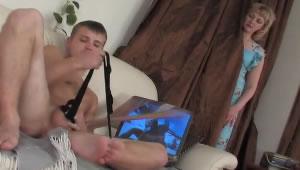 My son masturbates with my dirty panties