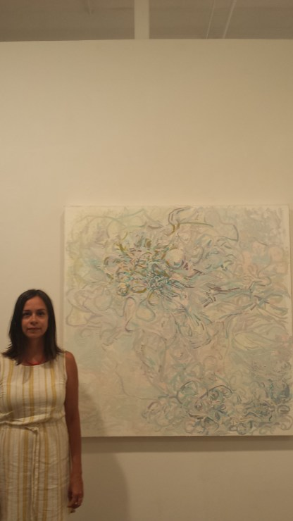 Teresa Dunn at her Motherload show in First Street Gallery.