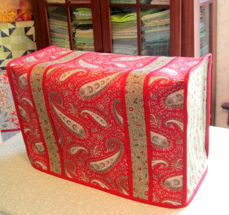 2013-3, Deb's sewing machine dust cover, side view