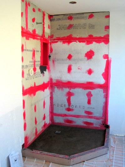 wk 5, Monday, shower floor