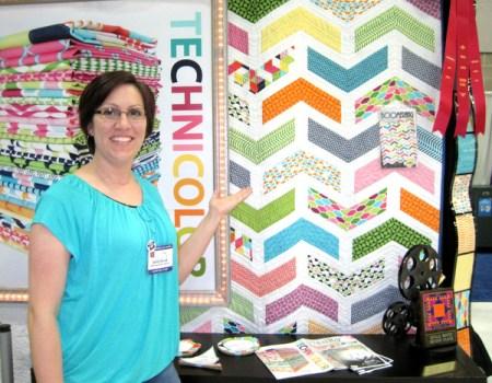 Emily Herrick with new quilt design