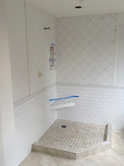 Week 7, shower tiled