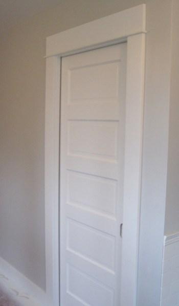 Week 9, pocket door painted