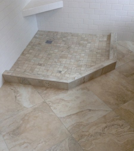 Week 9, tile floor with grout