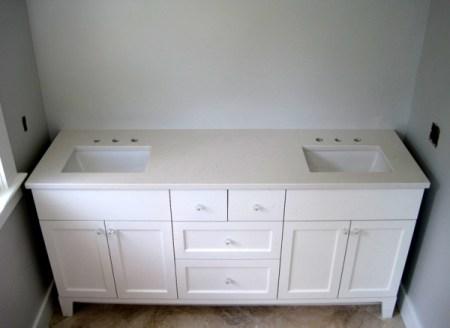 Week 11, vanity with countertop and sinks