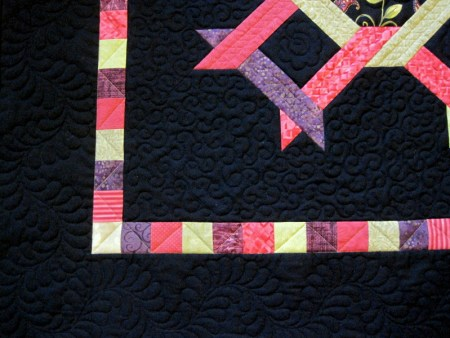 2014-1 Square Dance quilting detail 1