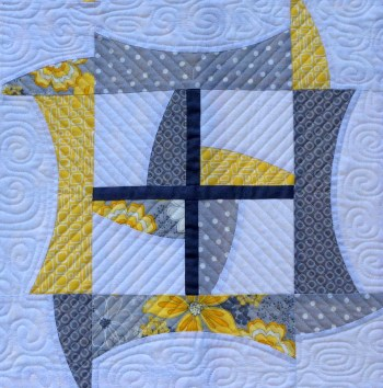 2014-8, Dancing Churndash, quilting detail