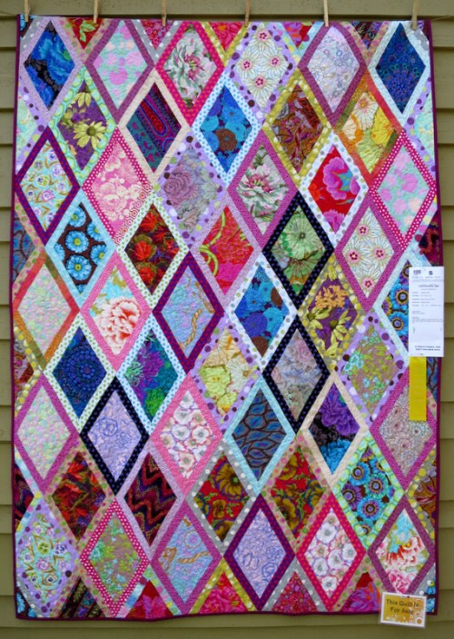 Diamonds and Dots by Debbie Startt of Port Orford OR 54 x 75