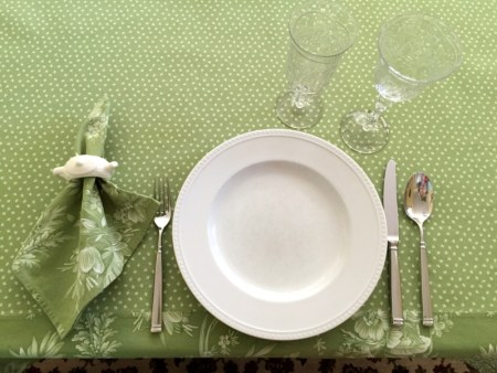 tablecloth with setting