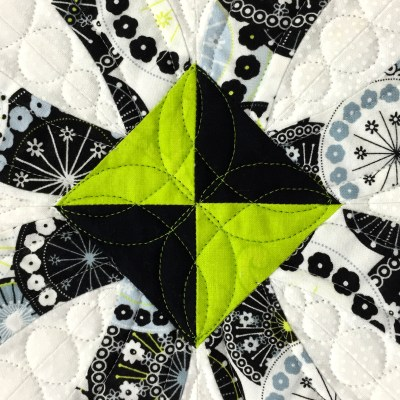 Ring Toss, quilting detail 1
