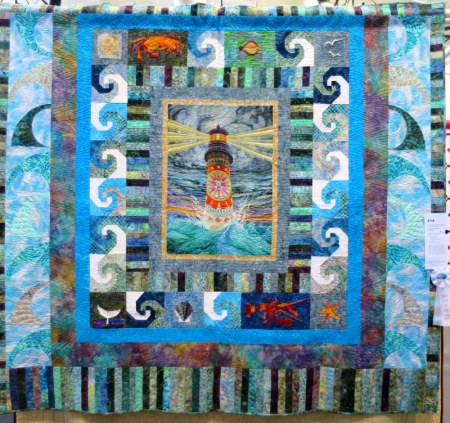 The View from the Lighthouse by Jacque VanDamme quilted by Cindy Young