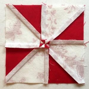 back of pinwheel block