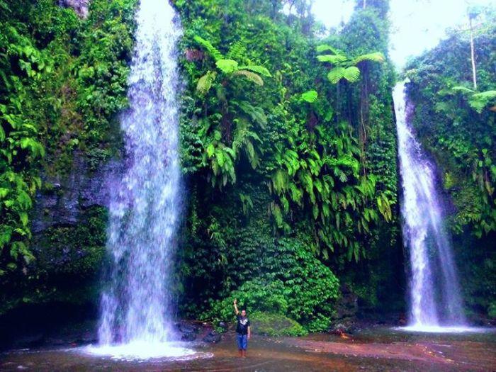 Obyek wisata air terjun benang stokel kab lombok tengah - sumber ig @iroelrvz