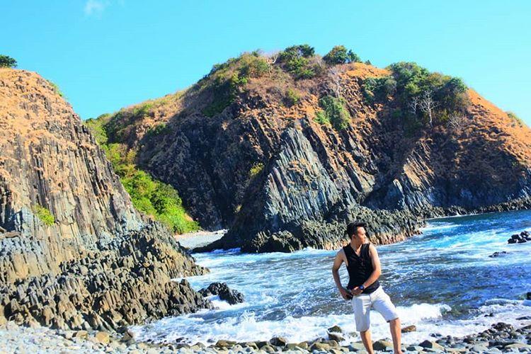 Piramida Laut di pantai Semeti Lombok, sumber ig sufyanandri