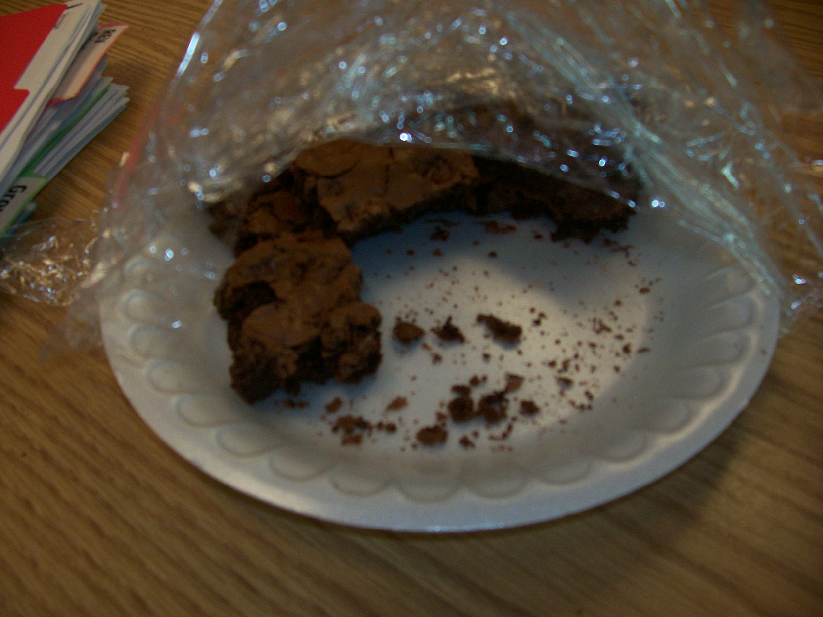A brownie plate already clobbered before 9 a.m.