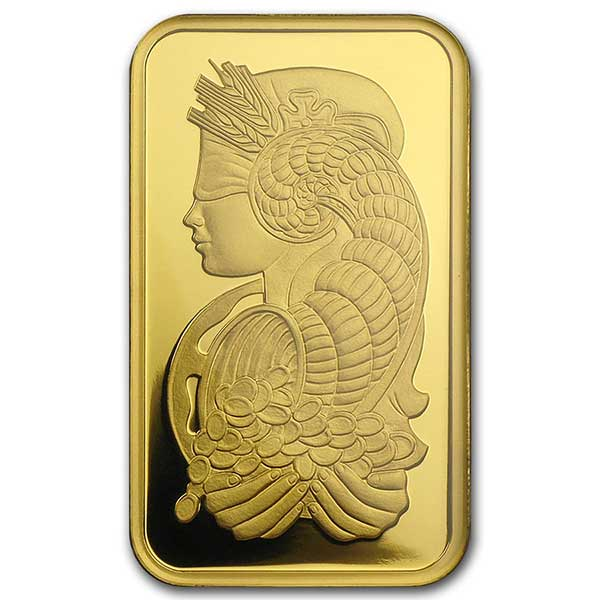 10 oz Gold Bar Pamp Suisse