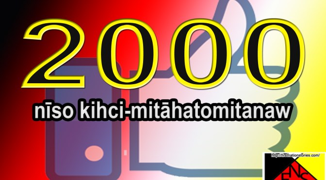 2000 Likes for First Nation Stories Facebook Page