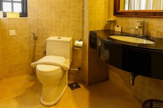 The bathroom is very clean.