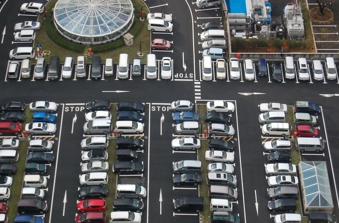 There is very little parking space in Japan
